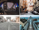 The world has come together to stay at home in light of the global coronavirus and it's made some stunning – and slightly eerie – snaps.