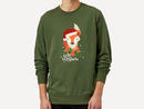 Christmas Fox Hello Christmas Sweatshirt – Forest Green