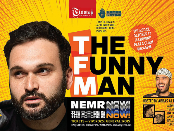 Lebanese-American comedian Nemr to perform in Muscat