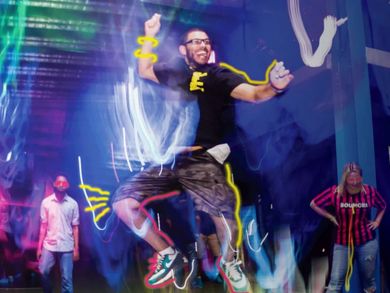 Trampoline park hosts After Dark Party